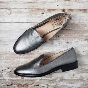 Vince Camuto Silver Loafer Flats Size 7M / 37